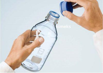 Duran Group - Lab. şişesi, mavi kapaklı,100 ml