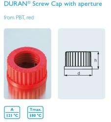 Schott Duran - Delikli vida kapak,GL 45, PBT,kırmızı