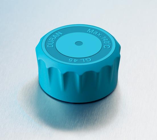 Laboratuvar şişesi mavi kapaklı 100 ml