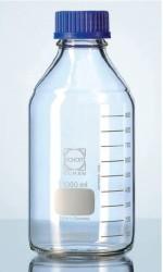 Schott Duran - Lab. şişesi, vidalı mavi kapak, taksimatlı, 750 ml