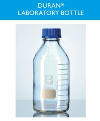 duran wheaton kimble - Lab. Şişesi vidalı mavi kapaklı taksimatlı 2 lt