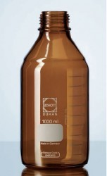 Schott Duran - laboratory bottle, amber, GL 45, without cap and pouring ring