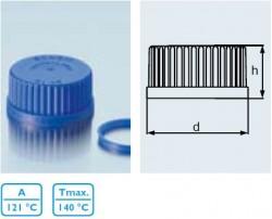 duran wheaton kimble - Laboratuvar Şişesi İçin Mavi Plastik Ağızlık, GL 32