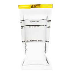Sarı şeritli yazılabilir numune poşeti 118 ml 7,5x18,5 cm 500 adet - Thumbnail