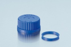 Duran Group - Screw Cap for Lab. Bottles,Blue, from PP, with lip seal,GL45