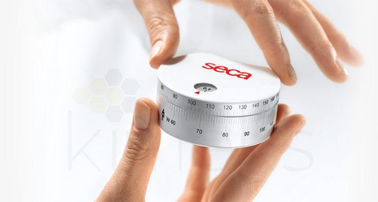 Ergonomik dairesel ölçüm bandı, kalça ve bel çevresi hesaplayıcı
