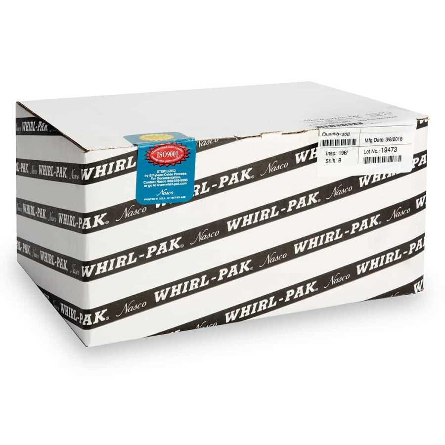 Whirl-Pak® Işık Duyarlı / Siyah Steril Numune Poşeti (118 ml) - 500 Adet