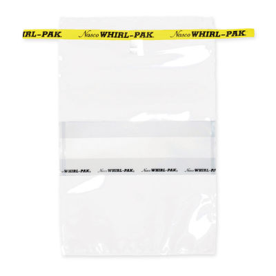 Whirl-Pak Yazılabilir Numune Poşeti 24 oz. (710 ml) - 500 Adet Sarı Şeritli